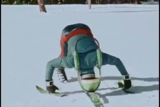 Skier Avec Sa Tête Buzz sports et loisirs