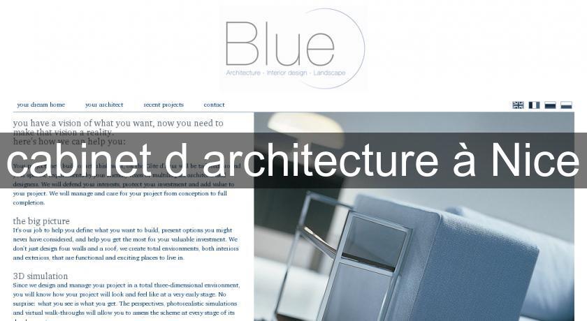 cabinet d 39 architecture nice architecte. Black Bedroom Furniture Sets. Home Design Ideas
