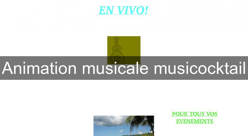 Animation musicale musicocktail