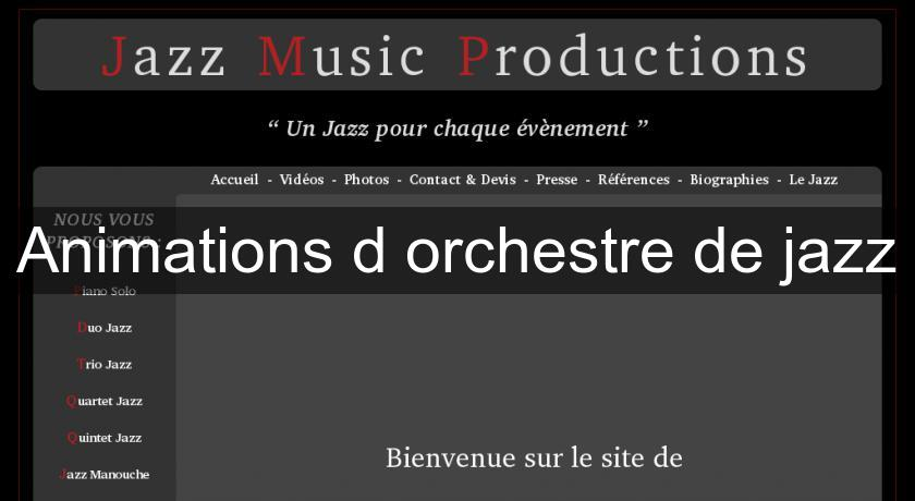 Animations d'orchestre de jazz