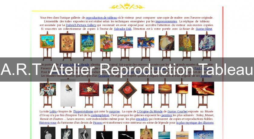 A.R.T  Atelier Reproduction Tableau