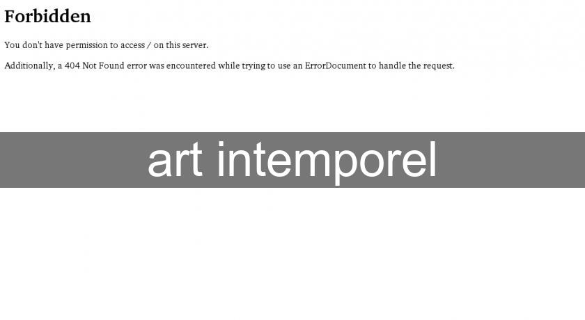 art intemporel