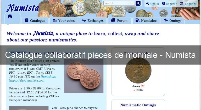 Catalogue collaboratif pieces de monnaie - Numista