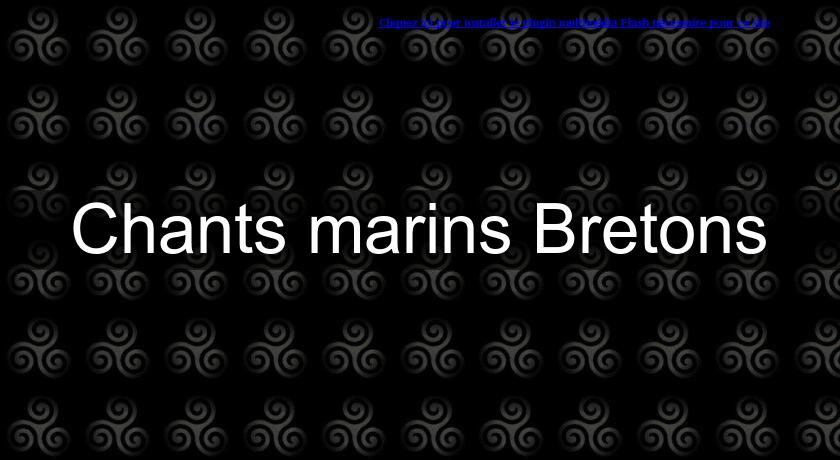 Chants marins Bretons