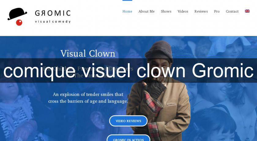 comique visuel clown Gromic