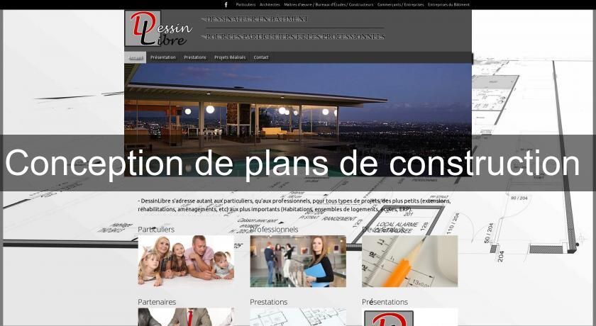 Conception de plans de construction