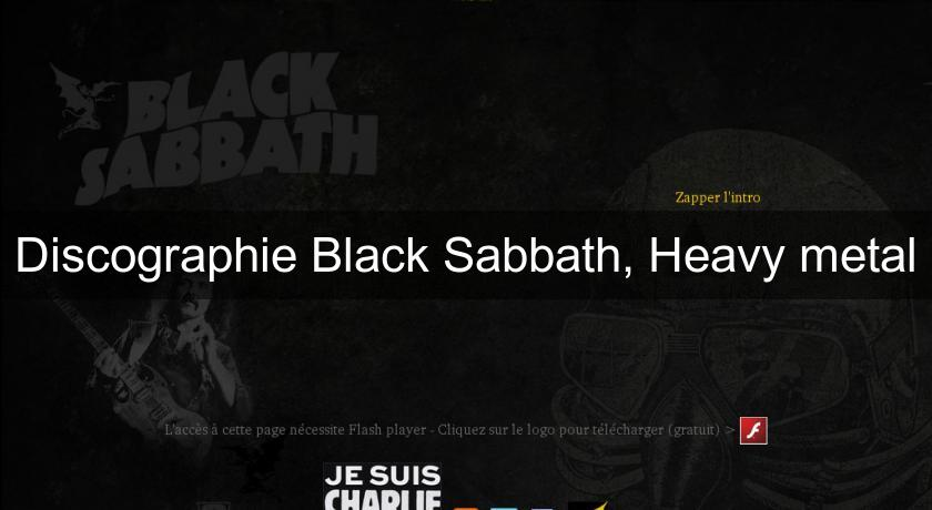 Discographie Black Sabbath, Heavy metal