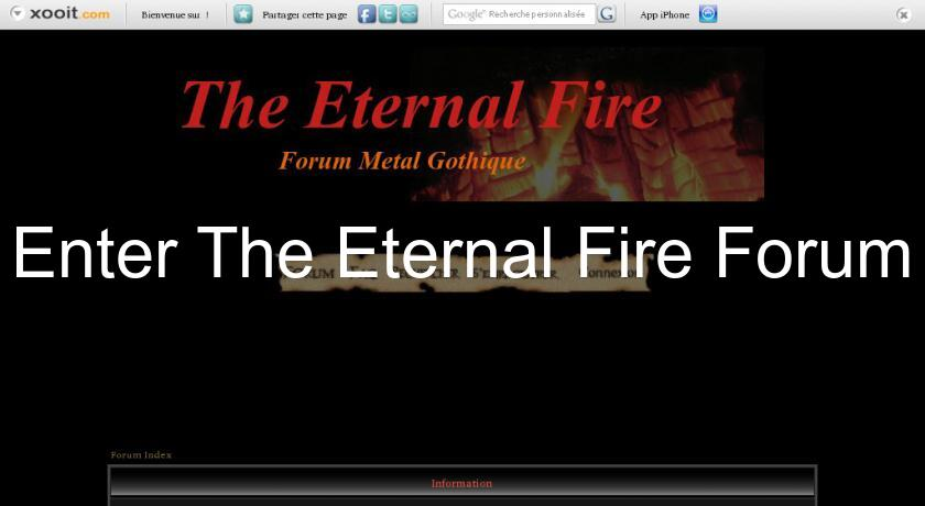 Enter The Eternal Fire Forum