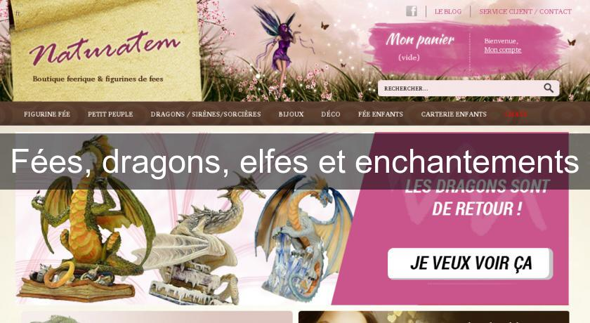 Fées, dragons, elfes et enchantements