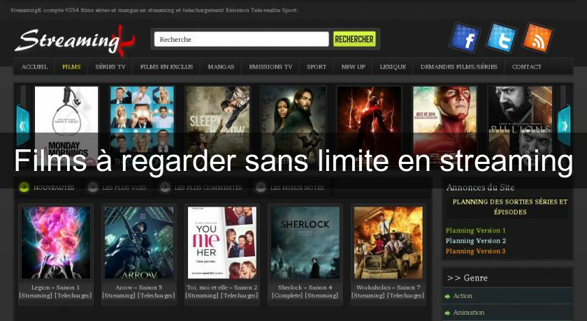 Films à regarder sans limite en streaming