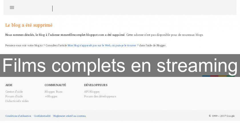 Films complets en streaming