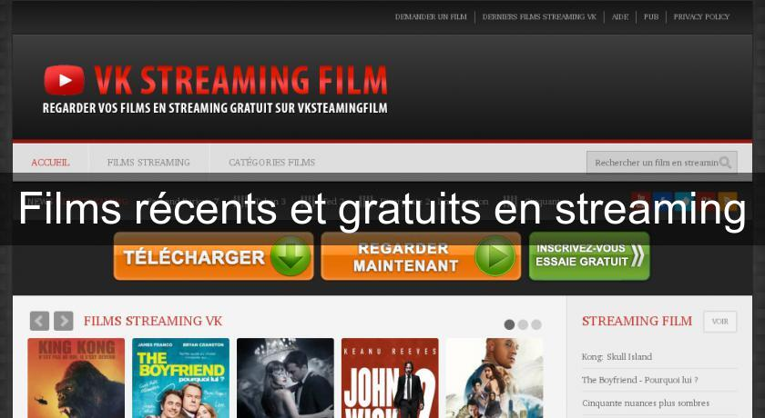 Films récents et gratuits en streaming