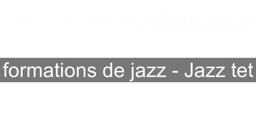 formations de jazz - Jazz'tet