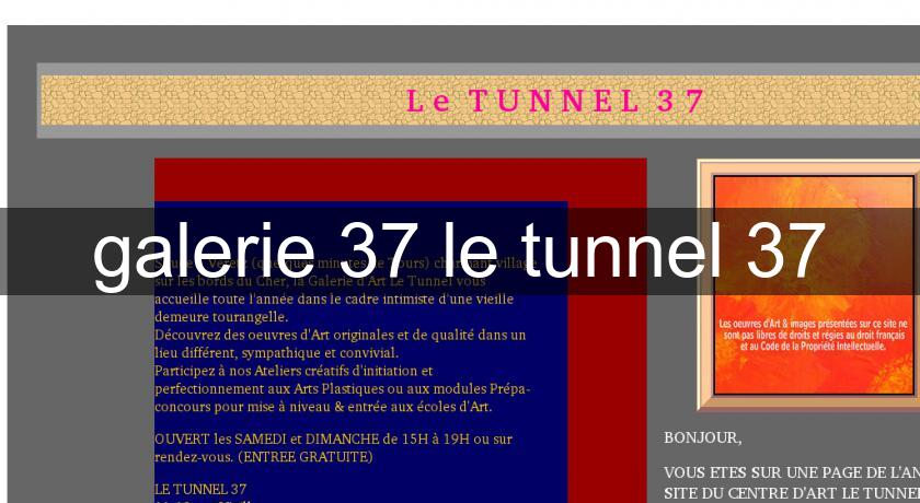 galerie 37 le tunnel 37