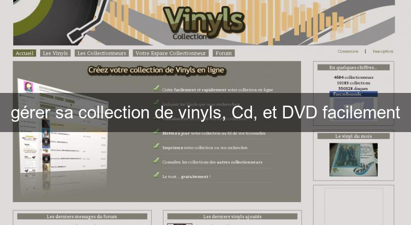 gérer sa collection de vinyls, Cd, et DVD facilement