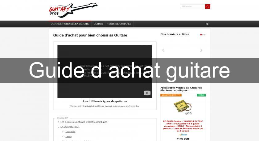 Guide d'achat guitare