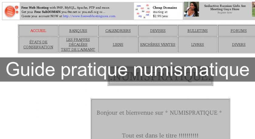 Guide pratique numismatique