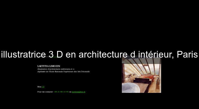 illustratrice 3 D en architecture d'intérieur, Paris