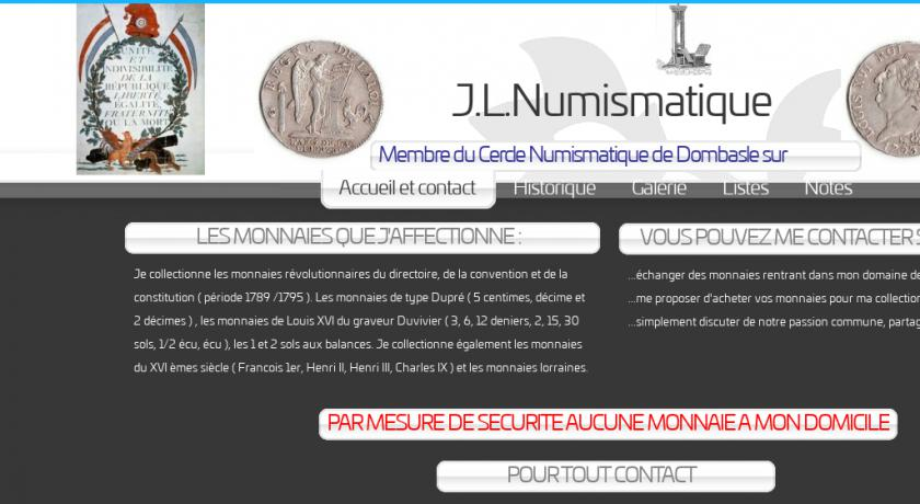 J.L.Numismatique monnaie collection