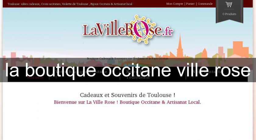 la boutique occitane ville rose