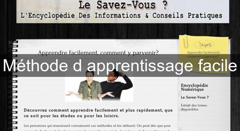 Méthode d'apprentissage facile