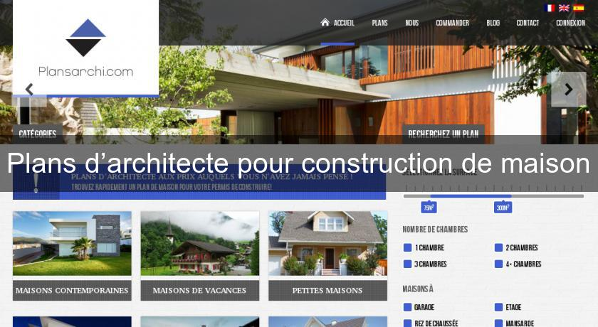 Plans d'architecte pour construction de maison