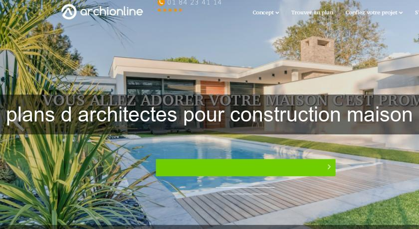 plans d'architectes pour construction maison