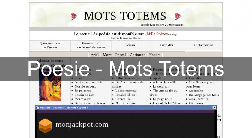Poesie - Mots Totems