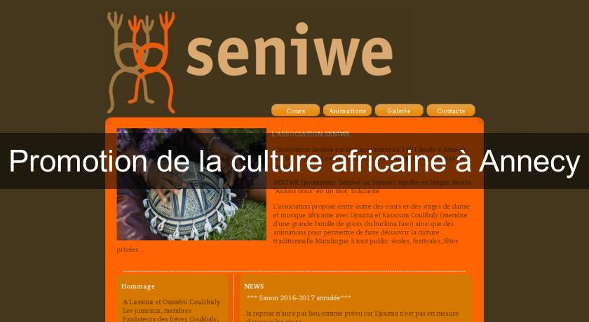 Promotion de la culture africaine à Annecy