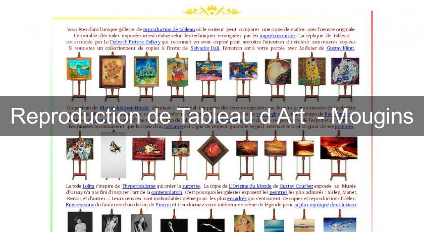 Reproduction de Tableau d'Art  - Mougins
