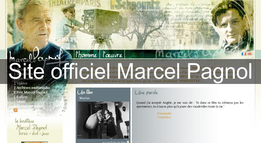 Site officiel Marcel Pagnol