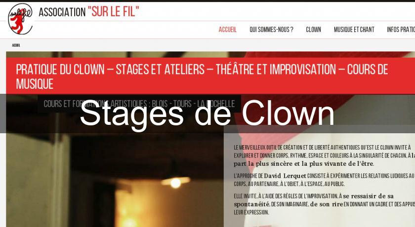 Stages de Clown