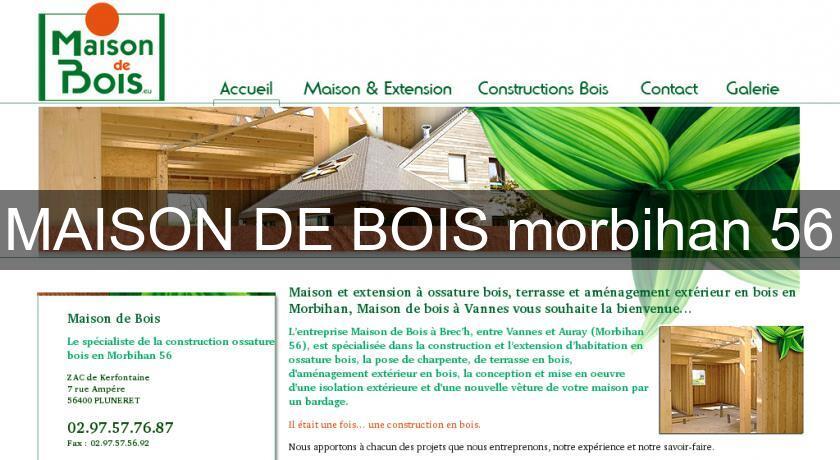 MAISON DE BOIS morbihan 56 Charpentier # Maison Bois Morbihan