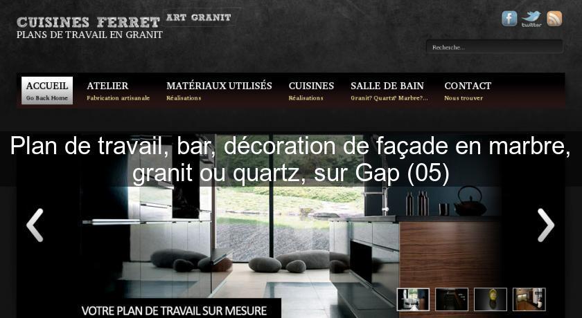 plan de travail bar d coration de fa ade en marbre. Black Bedroom Furniture Sets. Home Design Ideas