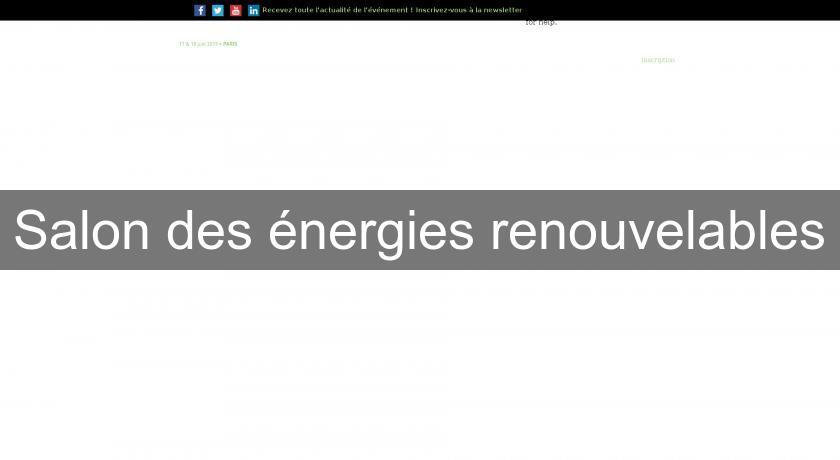Salon des nergies renouvelables salon et manifestation for Salon energie renouvelable