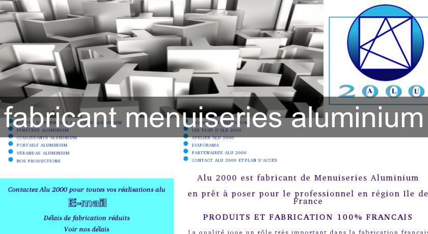 Fabricant menuiseries aluminium usinage for Fabricant menuiserie aluminium