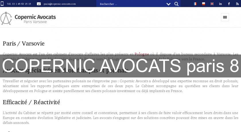 Copernic avocats paris 8 avocats - Cabinet d avocat paris 8 ...