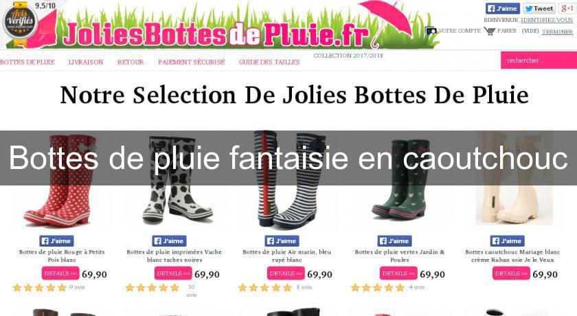 bottes de pluie fantaisie en caoutchouc chaussures femme. Black Bedroom Furniture Sets. Home Design Ideas