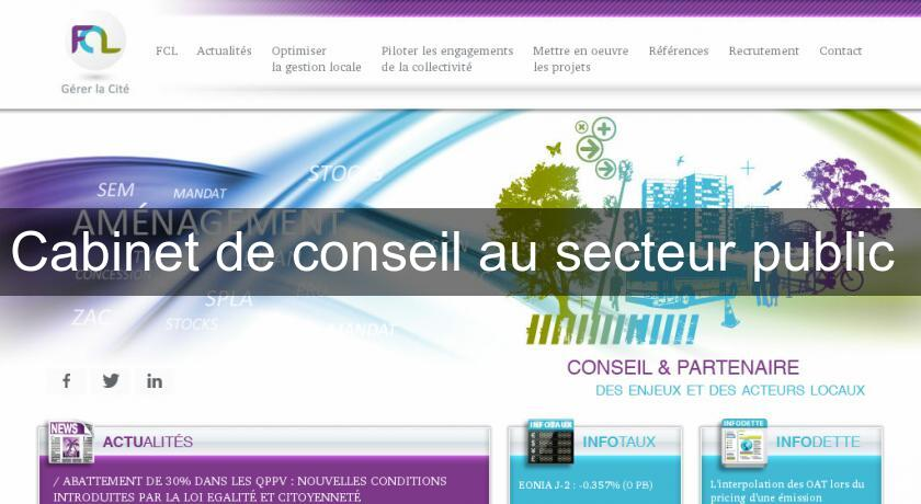 cabinet de conseil au secteur services aux entreprises