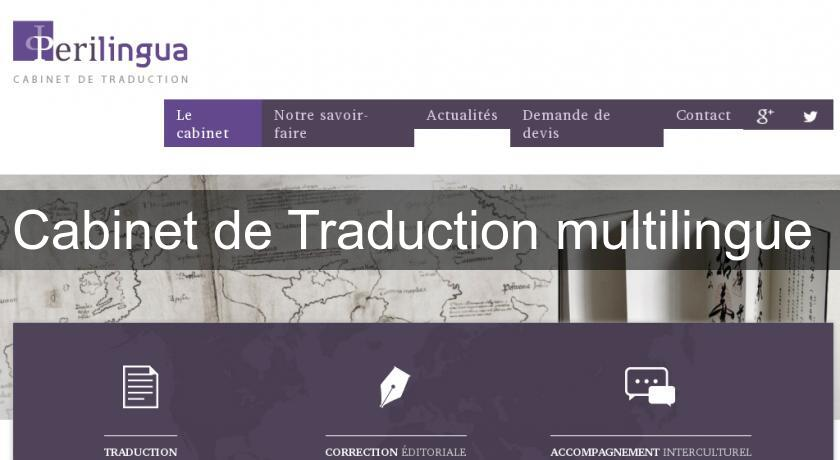 Cabinet de traduction multilingue service traduction - Cabinet de traduction ...