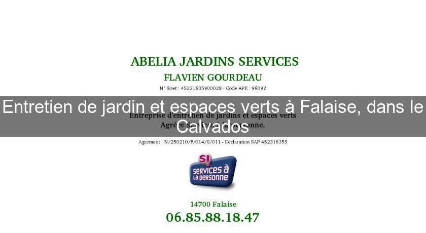 Entretien de jardin et espaces verts falaise dans le for Jardins et services