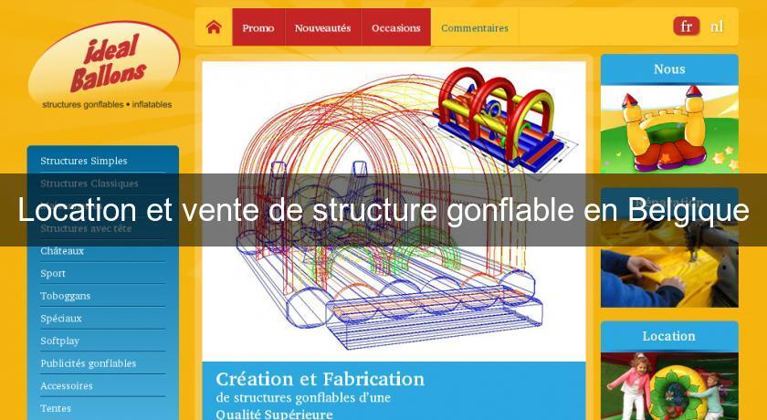 Location et vente de structure gonflable en belgique organisation et v nemen - Vente structure gonflable ...