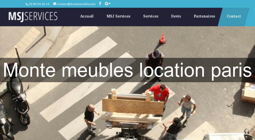 Monte meubles location paris services aux entreprises for Location paris meuble