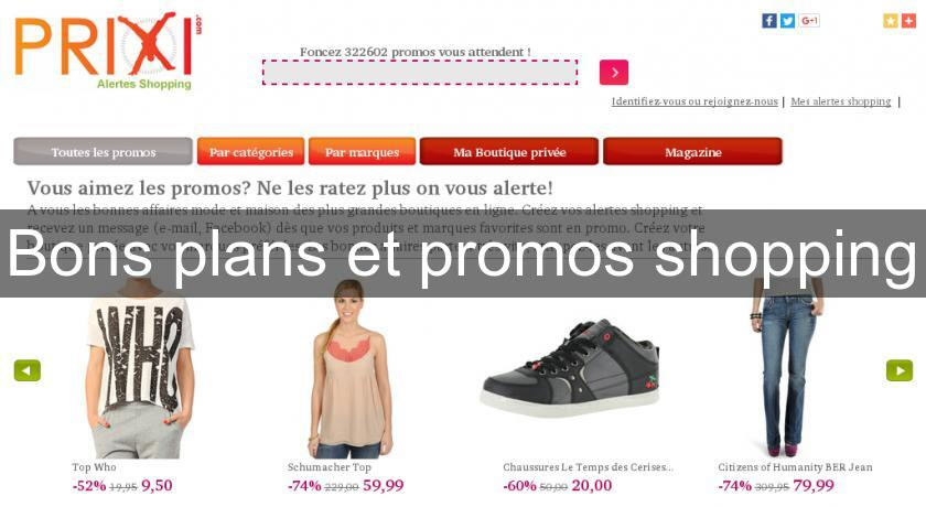 Bons plans et promos shopping