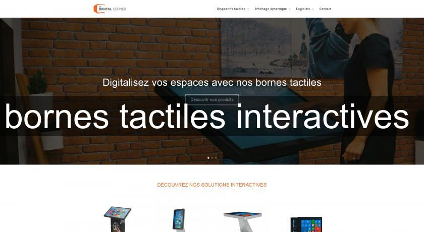 bornes tactiles interactives