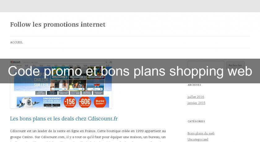 Code promo et bons plans shopping web
