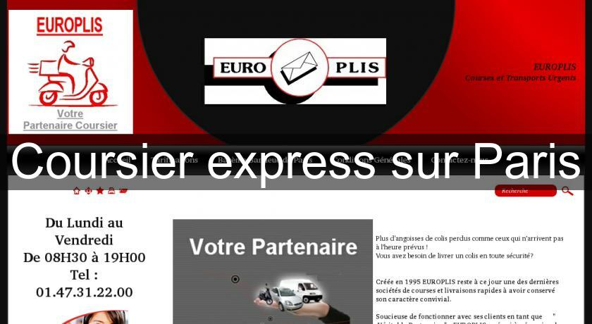 Coursier express sur Paris