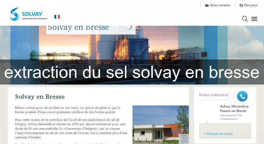 extraction du sel solvay en bresse