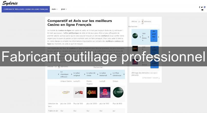 Fabricant outillage professionnel