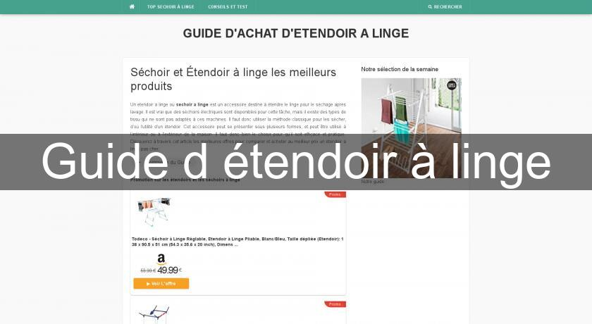 Guide d'étendoir à linge